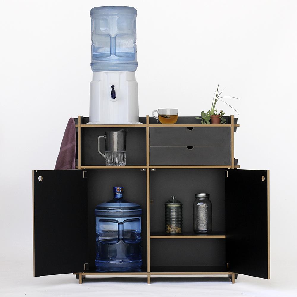 Mueble auxiliar de cocina con amplio espacio para - Muebles auxiliares cocina ...